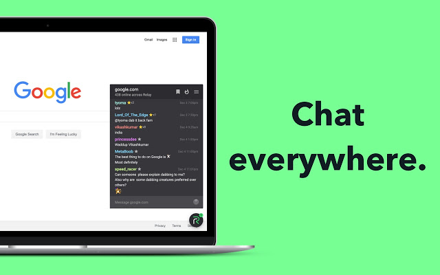 Google Chat website offering Gmail-like upgrade with Hangouts-style chat windows