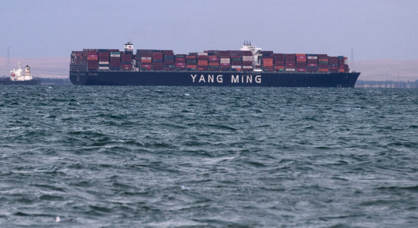 First cargo ship goes through Suez Canal after cargo vessel liberated