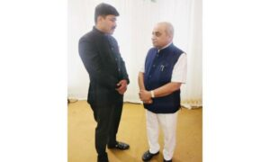 Deputy CM of Gujarat, Nitinbhai Patel had a tete-a-tete with BJP UP's politician Shrayam Bhargava