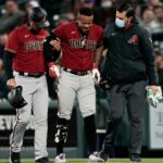 Ketel Marte leaves Diamondbacks' game ahead of schedule with an evident leg injury