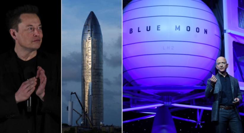 Elon Musk savages Jeff Bezos' Blue Origin after it challenges SpaceX's NASA lunar lander contract