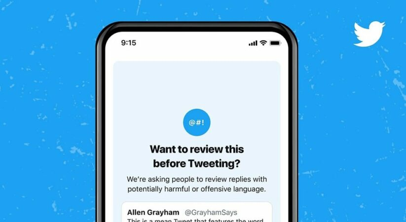 Twitter starts to show prompts before individuals send 'mean' replies