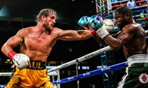 Logan Paul goes the distance against Mayweather in a boxing exhibition